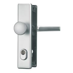 Türschutzbeschlag mit Zylinderschutz F1