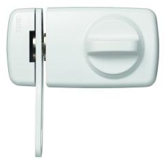 ABUS Tür-Zusatzschloss mit Sperrbügel und Außenzylinder 7030 weiß