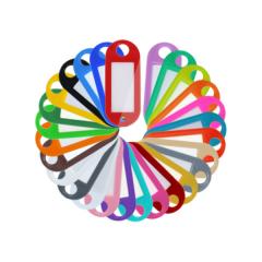 10 Schlüsselanhänger aus Kunststoff