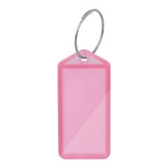 Schlüsselanhänger aus transparenten Kunststoff, aufklappbar