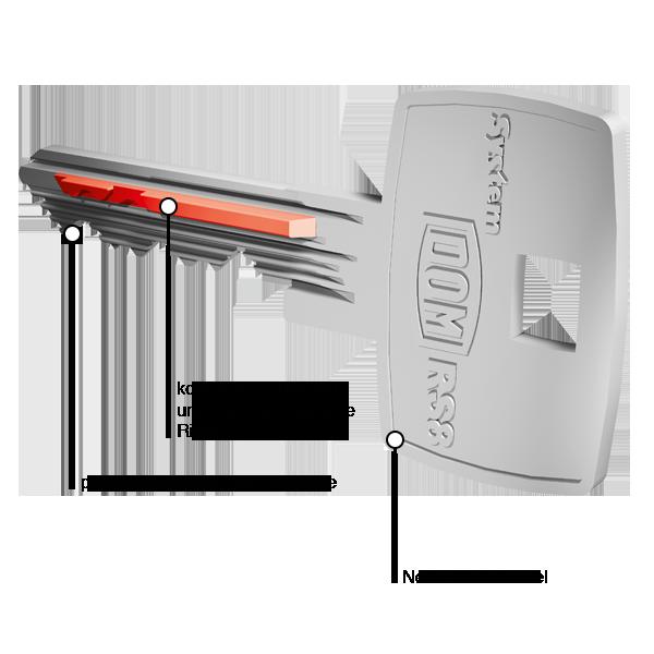 DOM RS8 Schlüssel