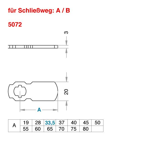EVVA Standard-Schließhebel
