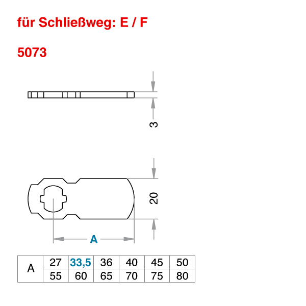 Schließhebel 5073