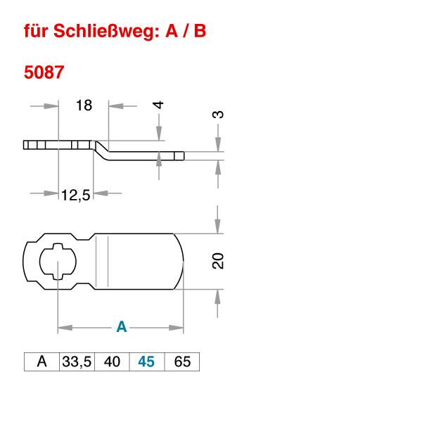 Schließhebel 5087
