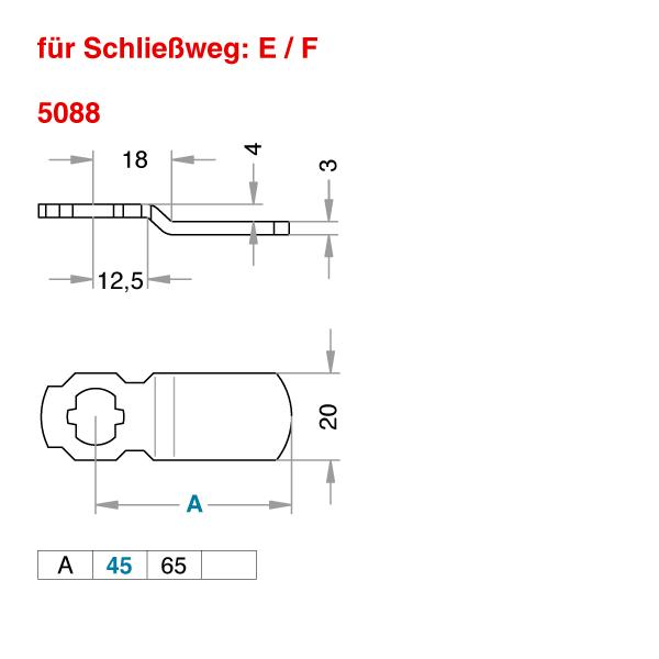 Schließhebel 5088
