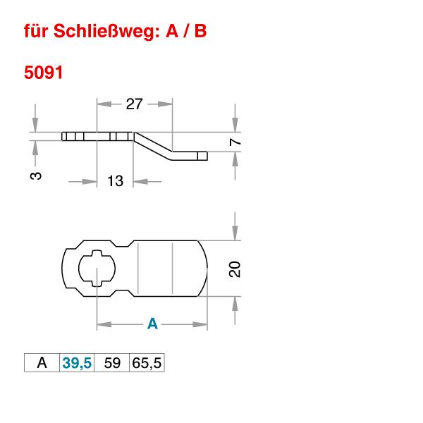 Schließhebel 5091