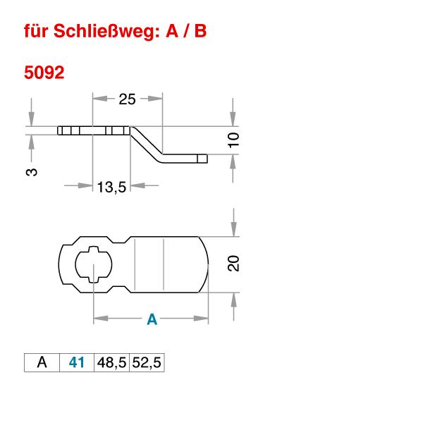 Schließhebel 5092