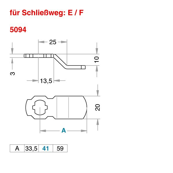 Schließhebel 5094