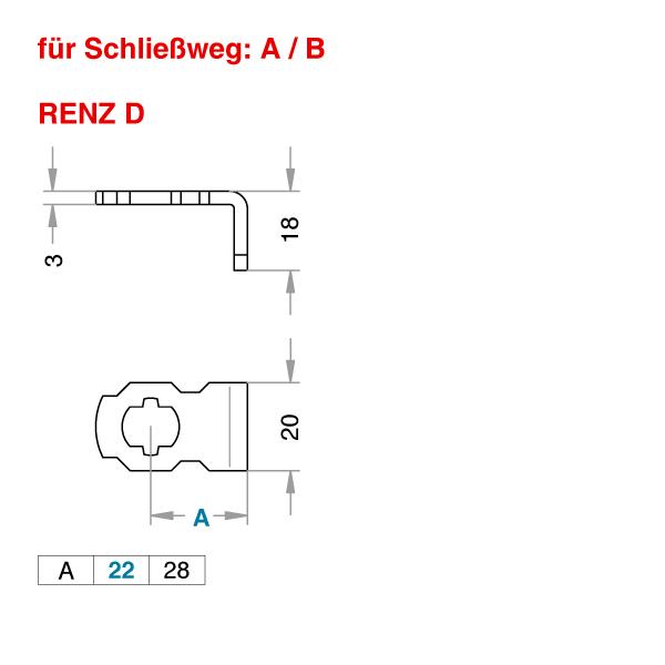 Renz D Schließhebel