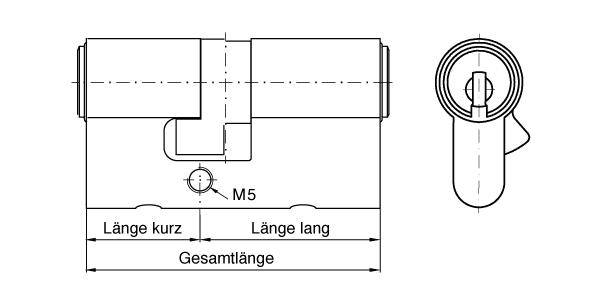 Grundlänge Kurzzylinder