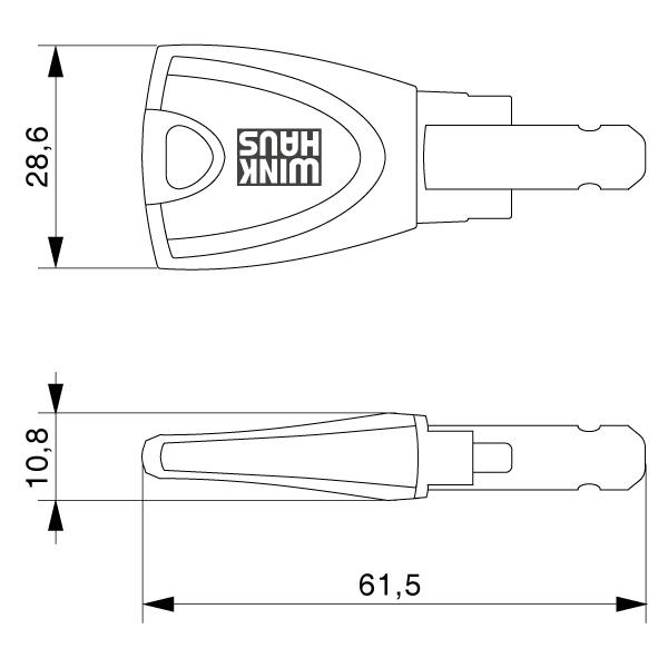 WINKHAUS blueCompact Nutzerschlüssel Zeichnung